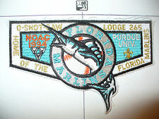 OA O Shot Caw 265 S-38b,1994 NOAC,Marlins MLB Baseball,TRQ Inner Flap,Florida,FL