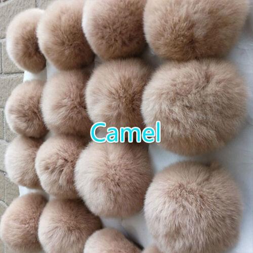 10x Real Kaninchenfell Bommel Ball Flauschig Anhänger für Hut Tasche Schuhe