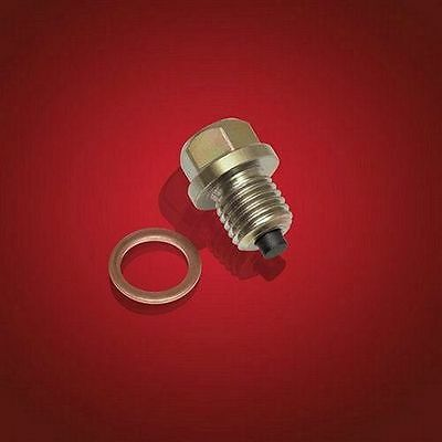Magnetic Oil Drain Plug Crush Washer For Yamaha Vulcan VN1500 Aluminum M12 x 1.5