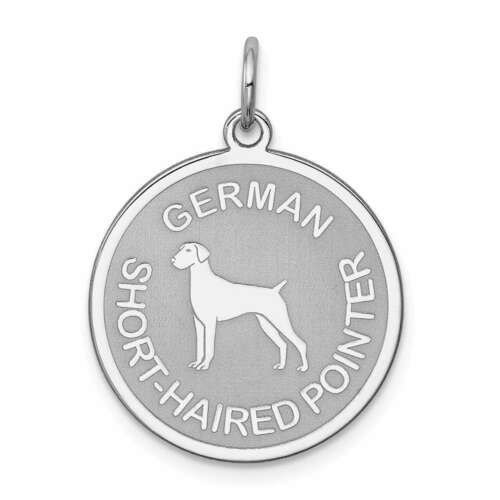 Sterling Silver German Shorthaired Pointer Disc Charm