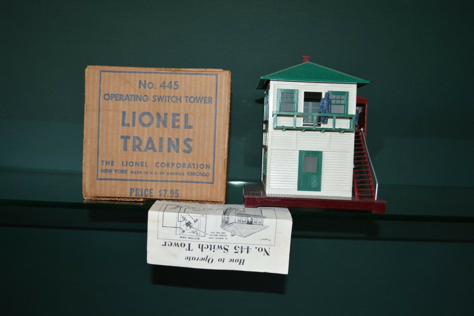 Vintage Original Lionel 445 Postwar Accessory Switch Tower Operating Boxed