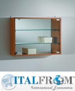 wandvitrine glaswand display mit spiegel shop b ro. Black Bedroom Furniture Sets. Home Design Ideas