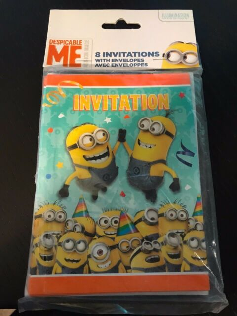 unique despicable me minions party invitations with envelopes 8ct ebay