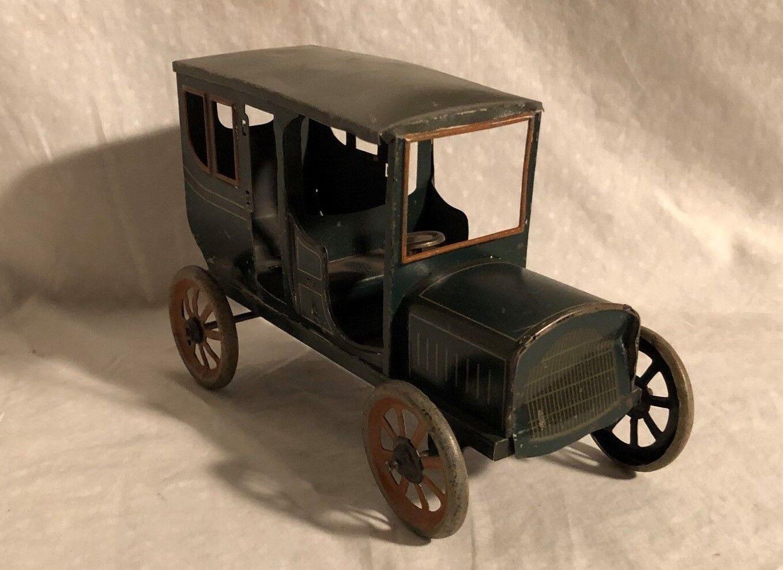 Früh Deutsch Aufziehen Blech Spielzeug Auto Bing Carrette 1920s