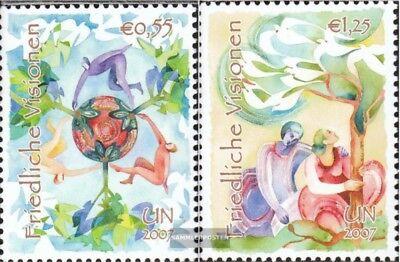 Postfrisch 2007 Friedliche Visionen Uno-wien 502-503 kompl.ausg.