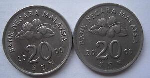 Second Series 20 sen coin 2000 2 pcs