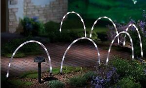 Nuovo led tubo energia solare arco stick luci giardino