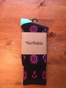 Pink-Dolphin-Black-Anchor-Unisex-Socks