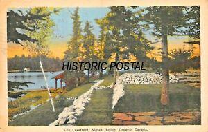MINAKI-ONTARIO-CANADA-MINAKI-LODGE-THE-LAKEFRONT-1942-PHOTO-POSTCARD