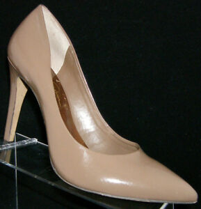 Jessica-Simpson-039-Elley-039-brown-patent-leather-pointed-toe-heel-pump-10B