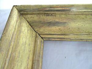 HUGE-Antique-Fits-19-X-26-034-Lemon-Gold-Gilt-Picture-Frame-Wood-Gesso-Fine-Art