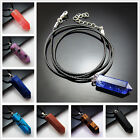Natural Gemstones Hexagonal Pointed Reiki Chakra Pendant Beads Charms Necklace