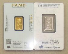 5 Gram Pamp Suisse Gold Bar & 5 Gram Pamp Suisse Platinum Bar