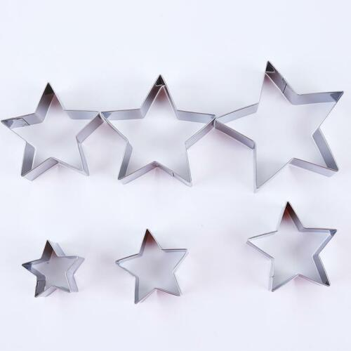 5 Star Shape Cake Pastry Steel Biscuit Cookie Cutter Baking Fondant Mold Tool SM