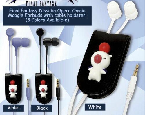 Final Fantasy Dissidia Opera Omnia Moogle Earbuds Violet  Headphones SquareEnix