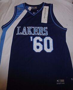 2286c72f9 A imagem está carregando Los-Angeles-Lakers-60-Camisa-De-Basquete-Tamanho-