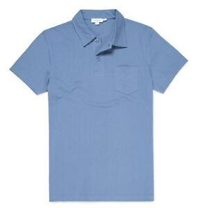 Sunspel-Riviera-Polo-Shirt-XX-Large-Airforce-blue-open-weave-cotton