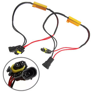 2x-H8-H11-LED-DRL-Fog-Light-Canbus-50W-Load-Resistor-Error-Free-Decoder-CancNSH