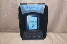 "Platinum Series Soft Zip Case for 7"" Tablet/ Moble Phone/Electronics  - BLACK"