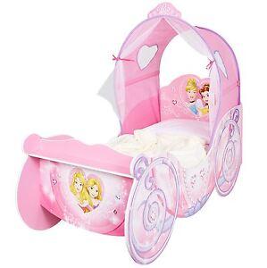 Das Bild Wird Geladen Disney Princess Schlitten Kleinkind Bett Mit Baldachin  Amp  Design