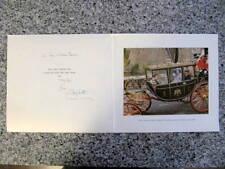 Elizabeth, Queen Mother - to KING & QUEEN of Greece - Hand Signed Card