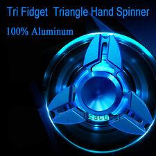Fidget Hand Tri Spinner Metal EDC Toy Stocking Stuffer Gift For Kids/Adults Blue
