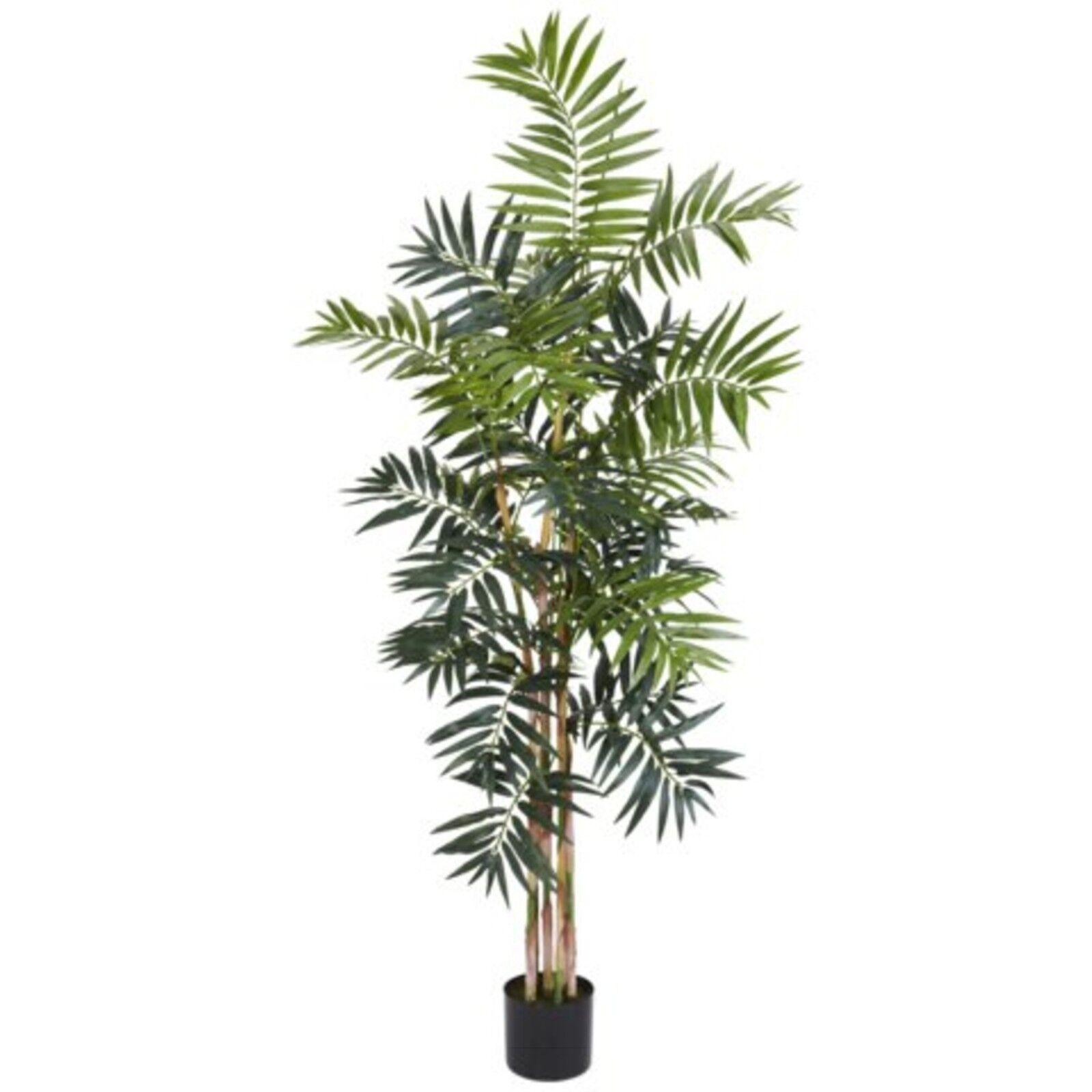 Decorative Naturelle Artificielle asiatique 5' Bamboo Palm soie Arbre synthétique Plantes