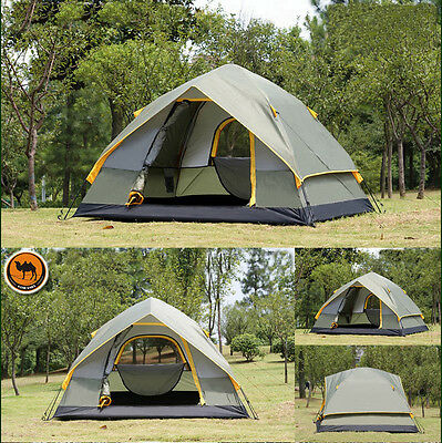 High Quality Camel Brand Professional 4 Person 4-Season Oxford Outdoor Tent NEW