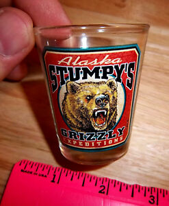 Alaska-Collector-Shotglass-Stumpys-Grizzly-Expeditions-collectible-Shot-Glass