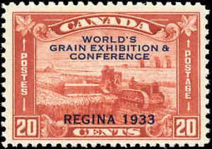 Mint-Canada-1933-Scott-203-20c-Grain-Exhibition-Stamp-Never-Hinged