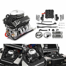Simulate V8 Engine Motor F82 Motor Cooling Fan for 1:10 RC TRX4 SCX10 RC4WD Car