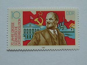 DDR 70. Jahrestag d. Oktoberrev. 1987 10 Pfennig(**) Plattenfehler Mi 3130 I