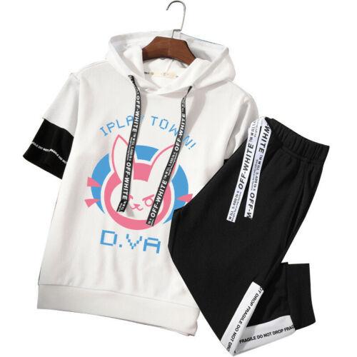 Unisex Game DVA Overwatch OW Japan Anime Short Sleeves Shirt Hoodie Pants M-4XL