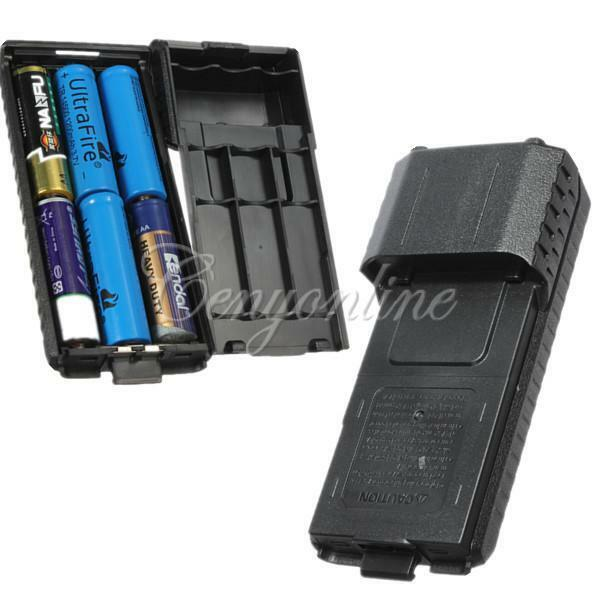 6X AA Battery Case Box Pack Storage Shell For BaoFeng UV5R UV5RB UV5RE UV5RE+
