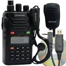 Wouxun KG-UVD1P Dual Band FM Ham Two-way Radio + Handheld Speaker & USB Cable