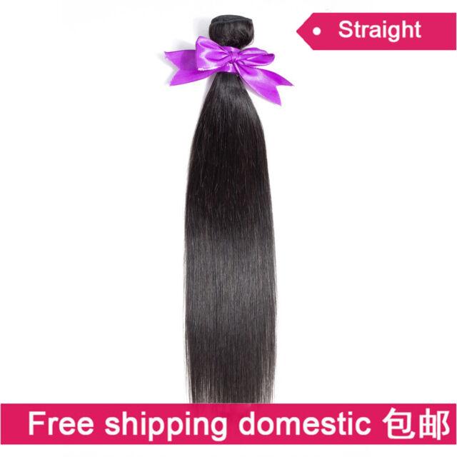 8A 100% Virgin Brazilian Human Hair Extensions Weft Straight Hair Bundle Weave