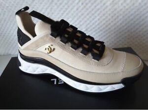 NIB 2020 Chanel Beige Sneakers Calfskin