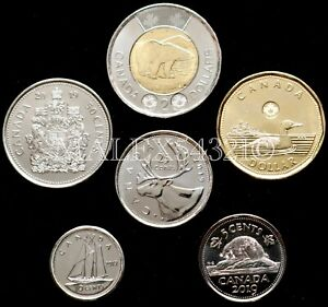 CANADA-2019-COMPLETE-COIN-SET-5-CENTS-TO-2-DOLLARS-UNCIRCULATED-6-COINS