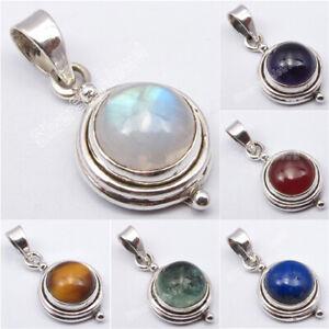 Argent 925 Simple Pendentif! Real Gemstone Traditional Handmade Jewelry Bijoux-afficher Le Titre D'origine