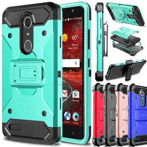 pretty nice d7219 23790 For ZTE Grand X 4 Z956 Phone Hybrid Damon Armor Shockproof Hard Clip ...