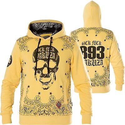 YAKUZA Hoody Tijuana HOB-13007 Pale Banana Gelb Hoodies Herren  Sweatshirts