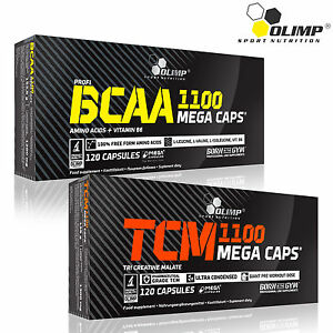 BCAA-Tri-Creatine-Malate-60-180-Caps-Amino-Acids-Muscle-Growth-Bodybuilding