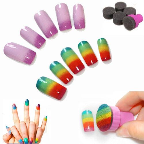 New Nail Art Sponge Gradual Change Stamper Polish Stamping Manicure Tool