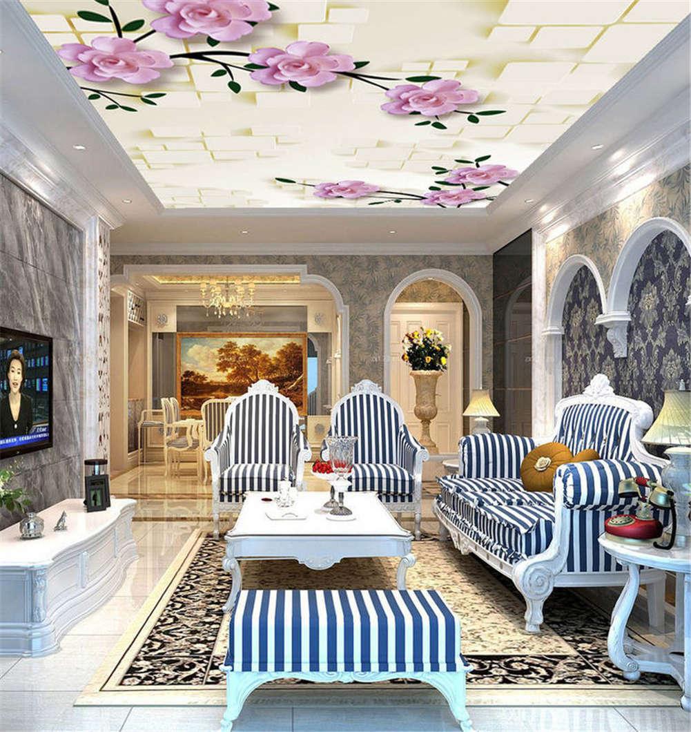 Numerous Lush Petal 3D Ceiling Mural Full Wall Photo Wallpaper Print Home Decor