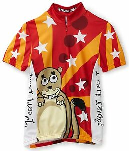 Pearl-Izumi-Select-Series-Boys-Junior-XL-Ltd-Red-Circus-Beaver-Bike-Jersey-NEW