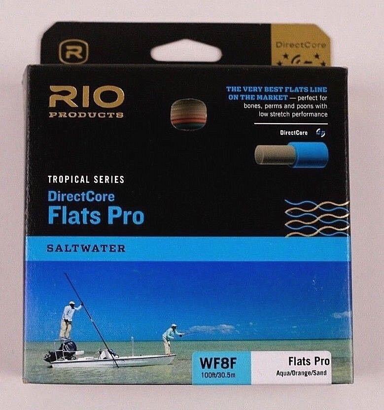 Rio Flats Pro DirectCore WF8F Fly Line Aqua arancia Sand Free Fast Ship 6-20666