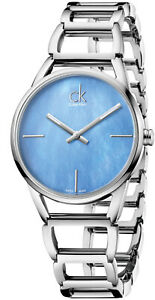 Calvin Klein Stately Quartz Mother Of Pearl Dial Ladies Watches K3G2312N