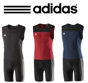 Men/'s Adidas Weightlifting Climalite Suit Adidas WLCL Powerlifting Singlets