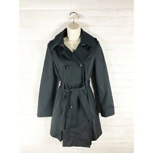 Michael Kors Women's Double Breasted Belted Black Trench Coat Size XS