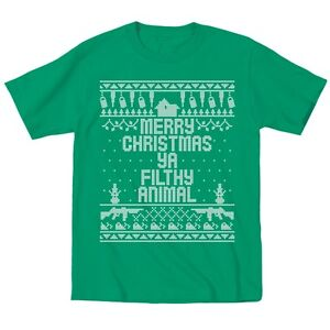Kids Home Merry Christmas Ya Filthy Animal Cute Outfit Green Toddler T-Shirt